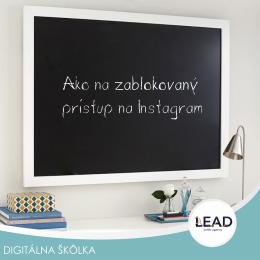 Lead sk online marketing - Ako na zablokovaný prístup na Instagram